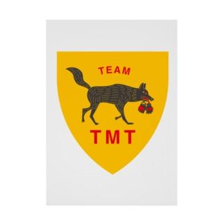 TEAM TMTエンブレム Stickable tarpaulin