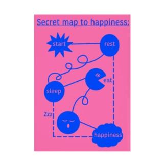 Secret Map to Happiness  Stickable tarpaulin