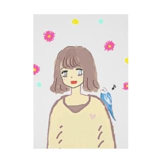 幸せの青い鳥♡ Stickable Poster