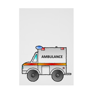 救急車Ambulance Stickable poster