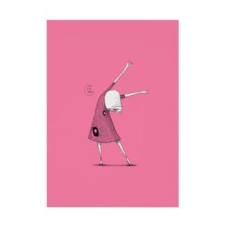 苔ttish!! feat.|neoFactoryののびをしよう Stickable poster