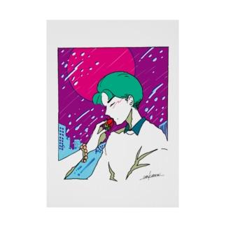 甘酸っぱい雨夜 Stickable tarpaulin
