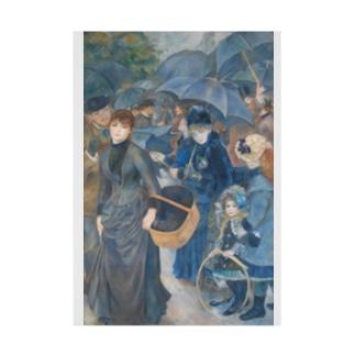 世界の絵画アートグッズのピエール=オーギュスト・ルノワール 《雨傘》 Stickable Poster