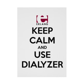Erlang - Keep Calm and Use Dialyzer Stickable tarpaulin