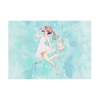 アイスと女の子 Stickable tarpaulin