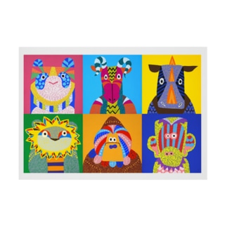 Animals Stickable tarpaulin