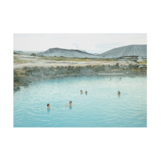 Myvatn Nature Baths Stickable tarpaulin
