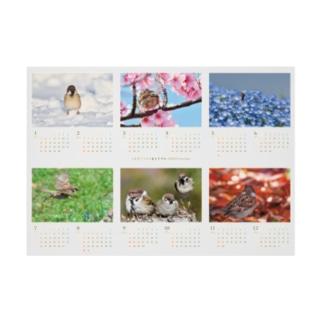 東京すずめカレンダー2020(B-Type) Stickable tarpaulin