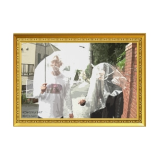 雨の日さんぽターポリン(絵画風) Stickable tarpaulin