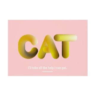 猫の手も借りたい Stickable poster