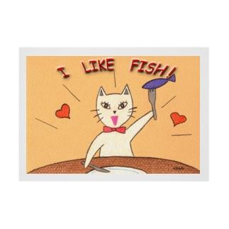 「I LIKE FISH!」 吸着ターポリン
