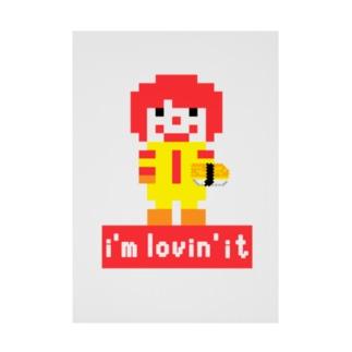 ピクセルアート パロディ i'm lovin' it Stickable tarpaulin