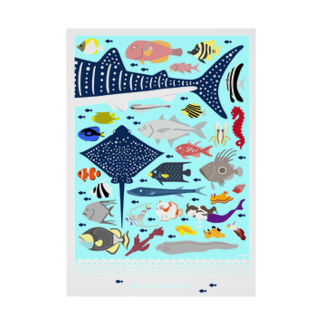 uki4837li.com SUZURI支店のUnderwater World 2019 Stickable tarpaulin