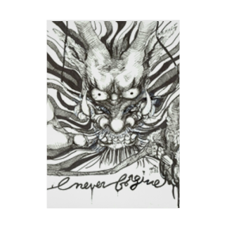 AnomaliA-Nachiのドラゴン-Never Frogive1 Stickable tarpaulin