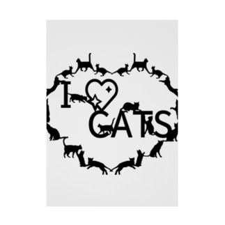 I ♡ CATS Stickable poster