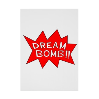 DREAM BOMB!! ユメノバクダン Stickable poster