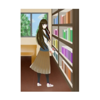 星巳崎学園図書委員 仙崎紫苑 Stickable poster