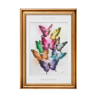 誕生日の色の蝶々 Stickable poster