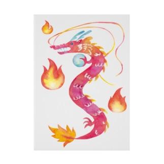 Yang(陽)--風水画-火の龍 Stickable poster