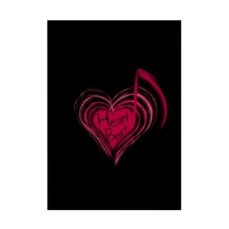 HeartBeat(Black) Stickable poster