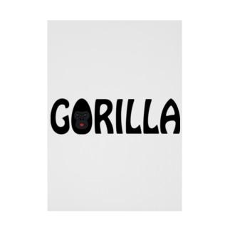 GORILLA(英字+1シリーズ) Stickable Poster