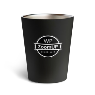WP ZoomUP ロゴ(Black)  Thermo Tumbler