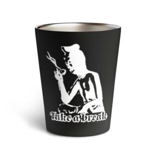 Take a break(黒タンブラー) Thermo Tumbler