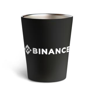 BINANCE-バイナンス-白ロゴ バックプリントデザイン(背面プリント) Thermo Tumbler