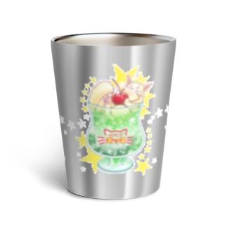 純喫茶ヌッコ★メロンクリームネコソーダ Thermo Tumbler