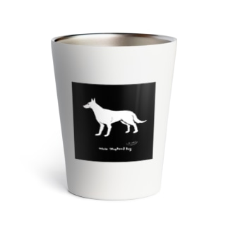 beautiful white shepherd dog Thermo Tumbler