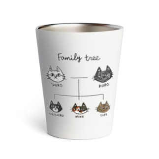 family tree -にゃんこの家系図- Thermo Tumbler
