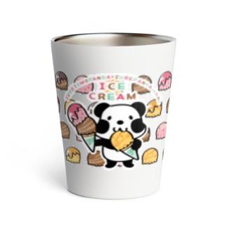 *suzuriDeMonyaa.tag*のCT50ズレぱんだちゃんのアイスを食べよう_cs Thermo Tumbler
