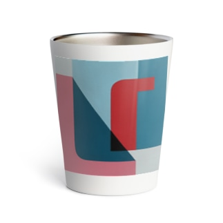 Geometric Letter series - Berry Mint 'U' Thermo Tumbler