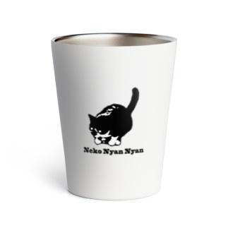 黒猫イラストTシャツ Thermo Tumbler