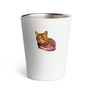 くつろぐキジトラ猫 Thermo Tumbler