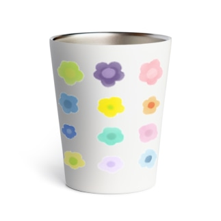 cute flowers Thermo Tumbler
