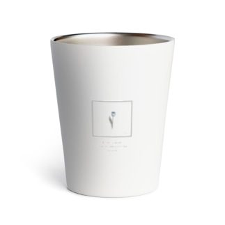 blue × gray tulip Thermo Tumbler