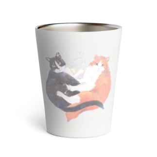 cat rule the world Thermo Tumbler