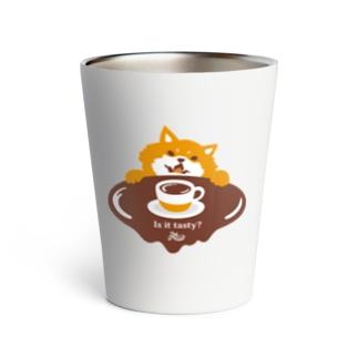 コーヒーの味が気になる柴犬 Thermo Tumbler