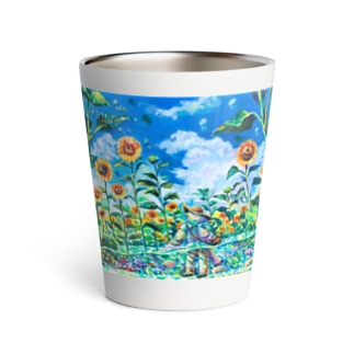 Sea of a sunflower Thermo Tumbler