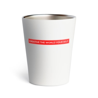 creative the world your self(赤) Thermo Tumbler