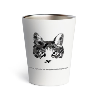 Army Cat モノクローム Thermo Tumbler