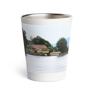 スイス:ルツェルン湖の別荘 Switzerland: House with a boat hut Thermo Tumbler