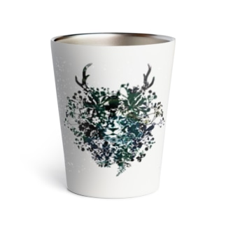 [helocdesign] Flower Lion Thermo Tumbler