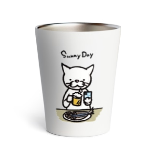 Sunny Day Cat くさや Thermo Tumbler
