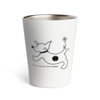 hitofudegaki-DOG(立ち耳)(雑貨) Thermo Tumbler