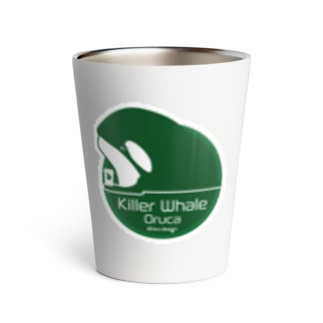 Cafeステッカー シャチGreen Thermo Tumbler