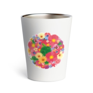 Love Turtle Flower Circle Thermo Tumbler