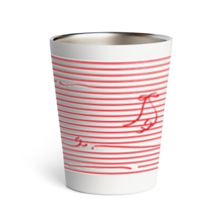 Red Stripes Thermo Tumbler