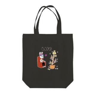LIFE-MONEY Tote bags